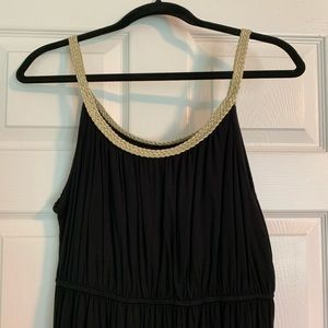 Black and Gold Dress Size Large